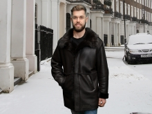 Higgs Leathers ONE ONLY - SAVE £200!  Gavin (men's Merino Shearling coat)