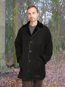 Higgs Leathers ONE ONLY SAVE £300!  Kent (3/4 length mens Merino Lambskin coats)