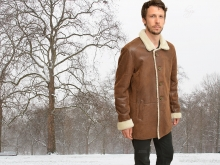 Higgs Leathers ONE ONLY!  Ludar (men's Shearling car coats)