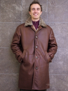 Higgs Leathers ONE ONLY SAVE £400!  Ludovic (Merino Shearling coats for men)