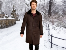 Higgs Leathers ONE ONLY SAVE £500!  Ludovic (Merino Shearling coats for men)