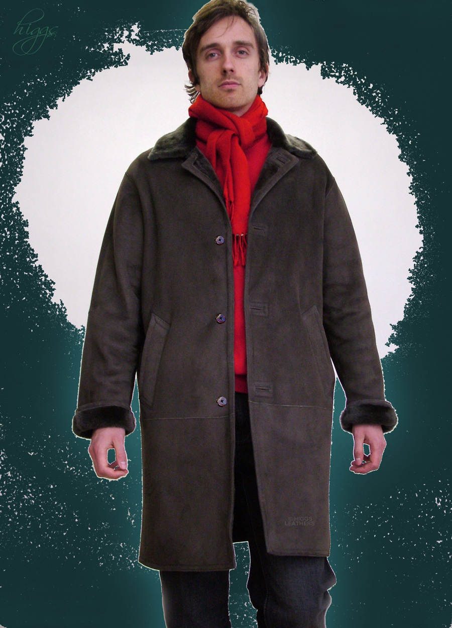 Higgs Leathers {SAVE £100!}  Rockford (men's Merino Lambskin coats)