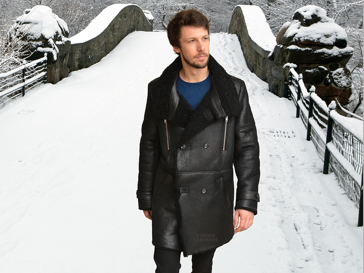Higgs Leathers {NEW!}  Monty (men's DB Sheepskin coats)