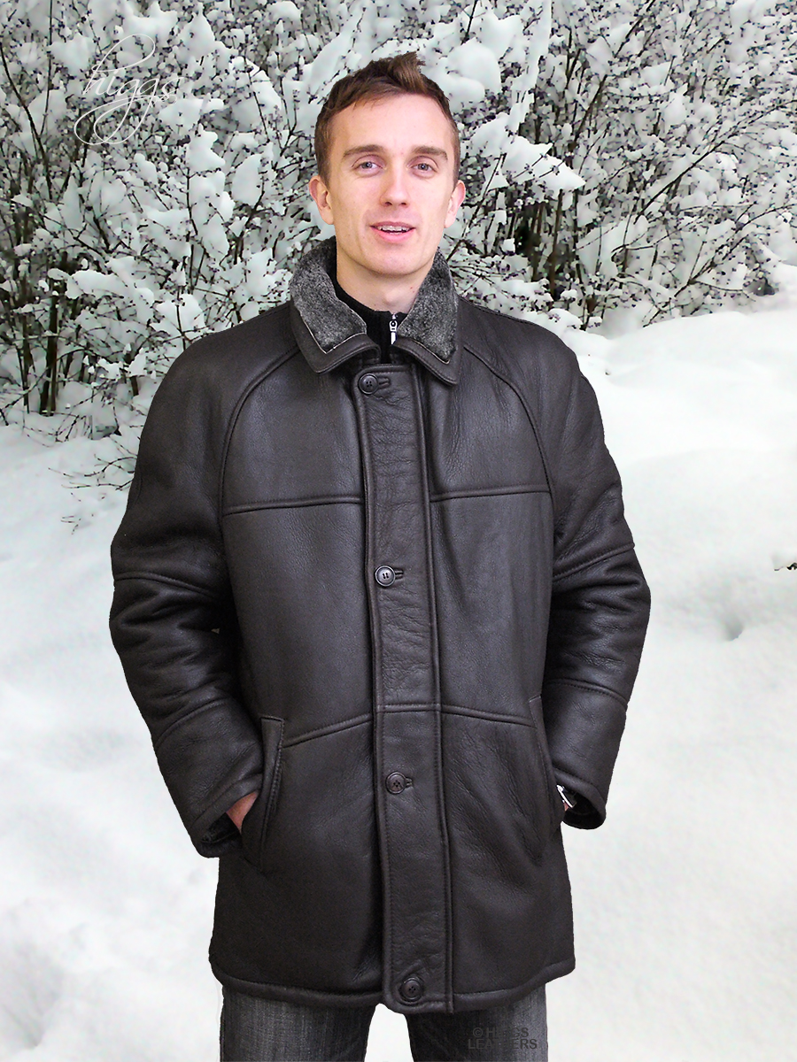 Higgs Leathers LAST ONE! Randall (3/4 length men's sheepskin coat)
