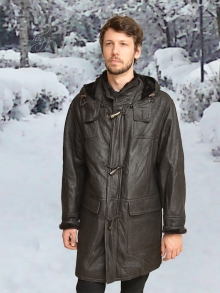 Higgs Leathers LAST FEW SAVE £149!  Rudi (Shearling Duffel coats for men)