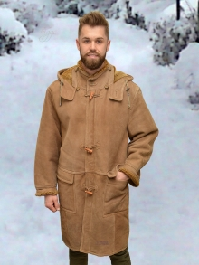 Higgs Leathers ONE ONLY - SOLD!  Rudi (Shearling Duffel coats for men)