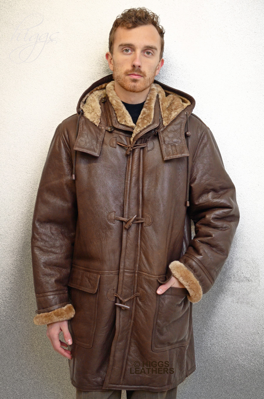 Higgs Leathers {LAST FEW!}  Rudi (men's sheepskin Duffle coats) SERIOUS WARMTH!
