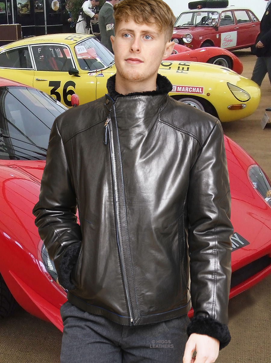 Higgs Leathers {LAST ONE!}  Albie  (men's Black nappa flying jacket) MEN'S NEW GENERATION SHEARLING AND SHEEPSKIN JACKETS!