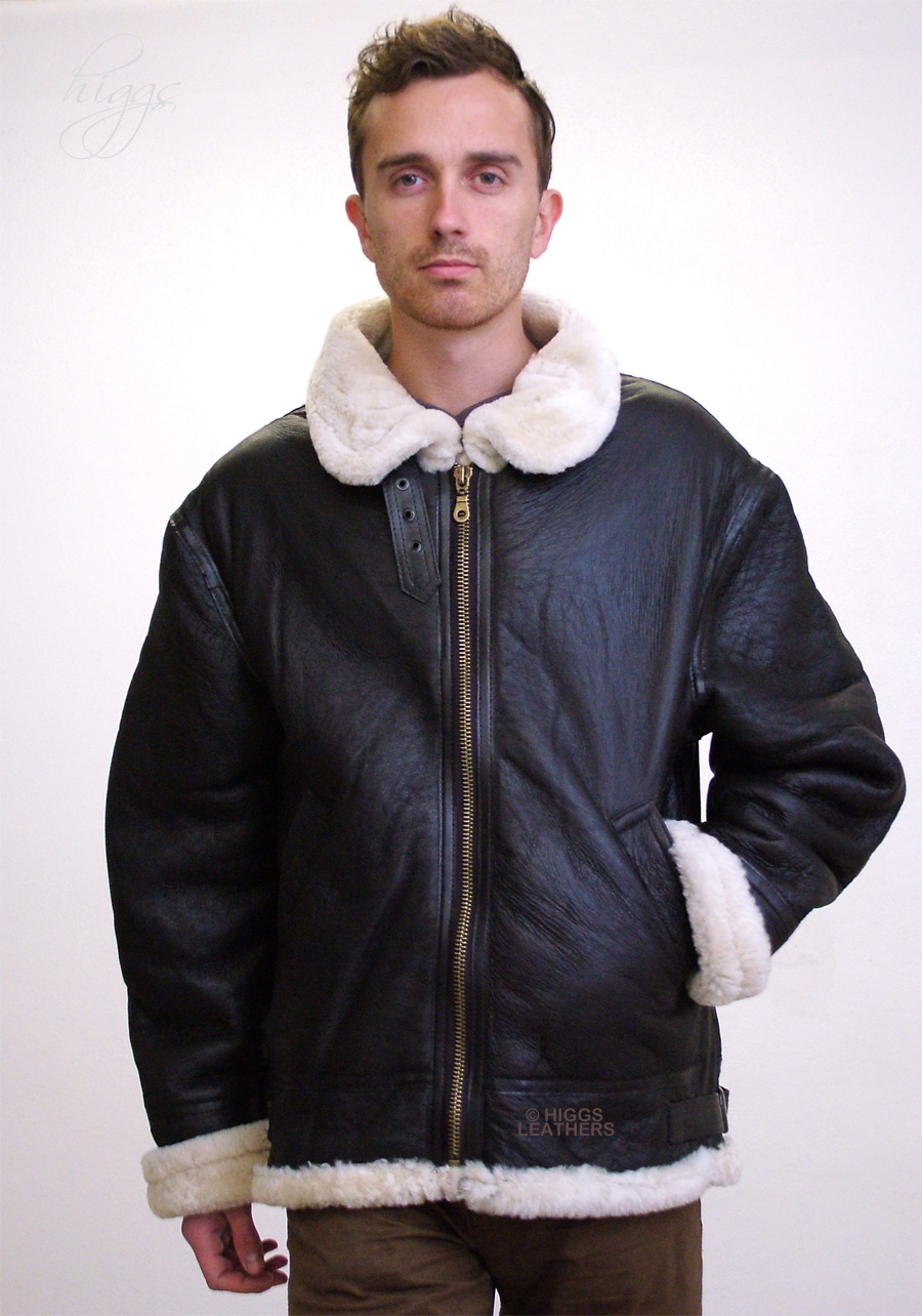 Higgs Leathers {SAVE £100!}  Gunner  (mens Sheepskin flying jackets) LIMITED OFFER - SAVE £100!!