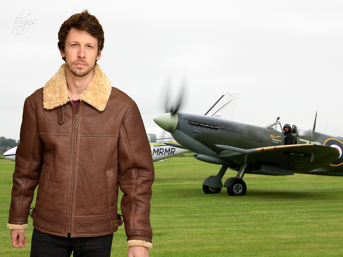 Higgs Leathers {SAVE £110!}  Hurricane (men's sheepskin flying jackets)