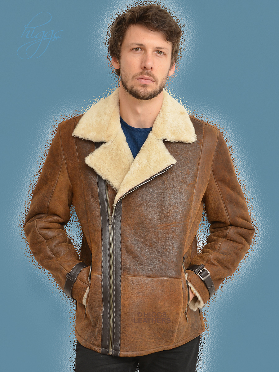 Higgs Leathers {NEW!}  Colin (men's Shearling Flying jackets) New Generation Shearling Flying Jackets for men!