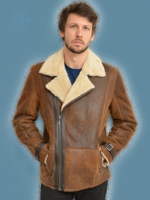 Higgs Leathers NEW!  Colin (men's Shearling Flying jackets)