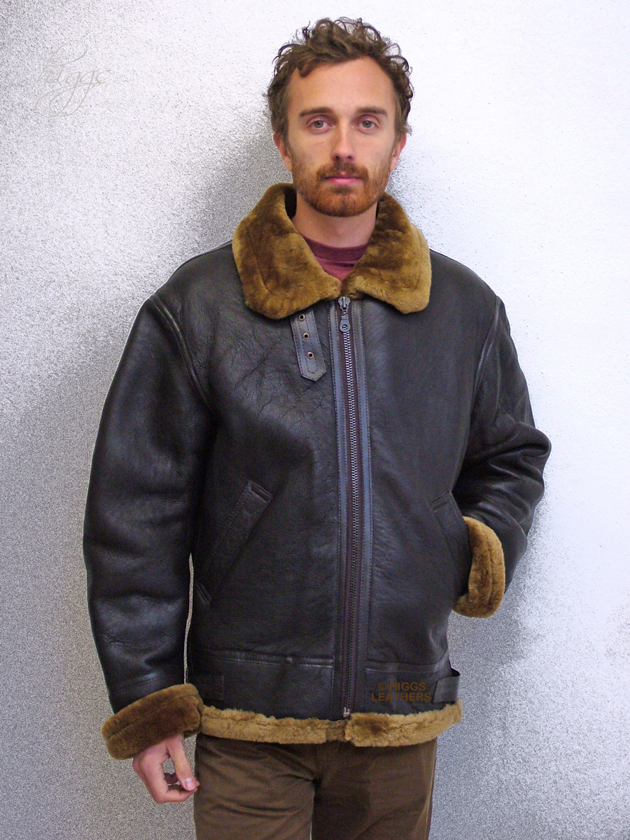 Higgs Leathers {SAVE £60!}  Gunner (men's Sheepskin flying jackets)