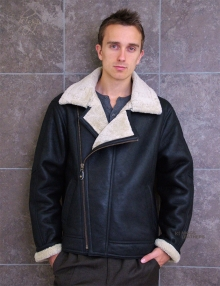 Higgs Leathers USA Bomber (men's Sheepskin Flying jackets)