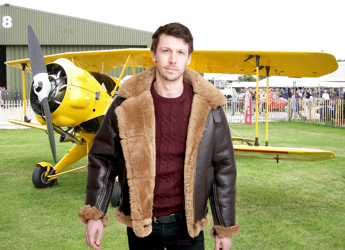 Higgs Leathers {SAVE £250!}  Mosquito (Ultimate quality Sheepskin RAF flying jacket) LIMITED OFFER WHILE STOCKS LAST!