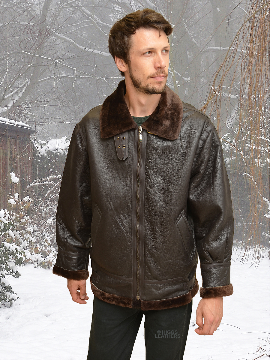 Higgs Leathers HALF PRICE! Pilot (men's Sheepskin flying jackets) LAST FEW - HALF PRICE!