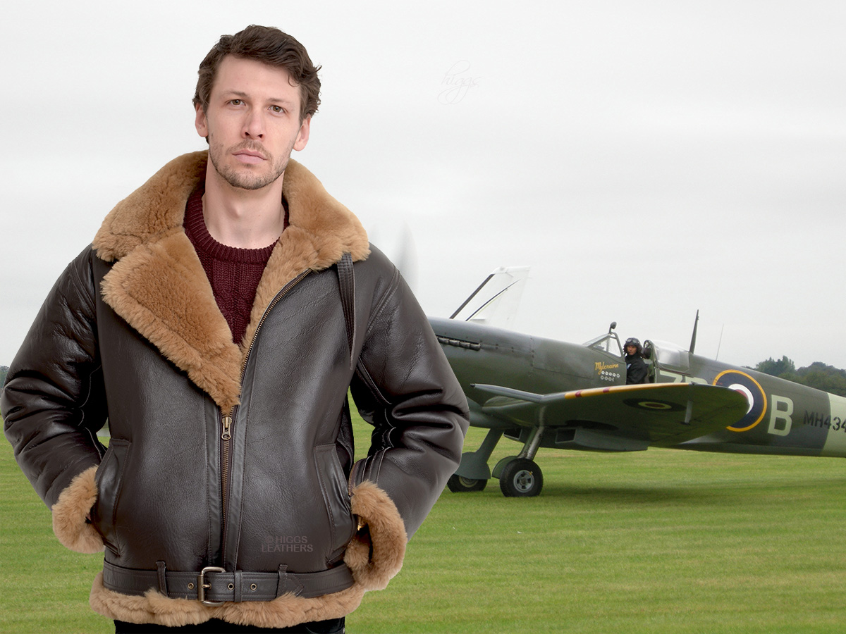 Higgs Leathers {SAVE £250!}  Spitfire (Special Quality Sheepskin RAF Flying jackets) LIMITED OFFER WHILE STOCKS LAST!