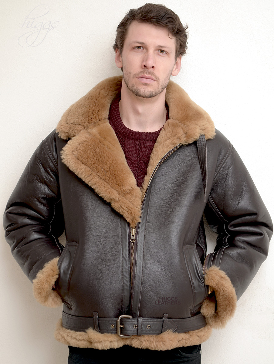 Higgs Leathers {SAVE £250!}  Spitfire (Special Quality men's Sheepskin Flying jacket) LIMITED OFFER WHILE STOCKS LAST!