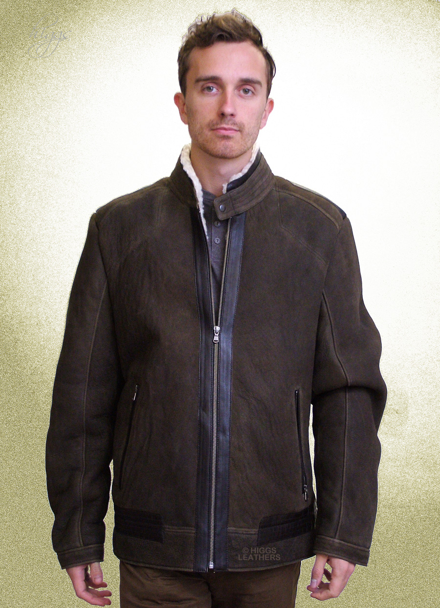 Higgs Leathers {NEW!}  Ulrik (men's Designer Sheepskin jackets) New generation design men's Sheepskin jackets!