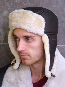 Higgs Leathers Airco (men's Sheepskin flying hats)