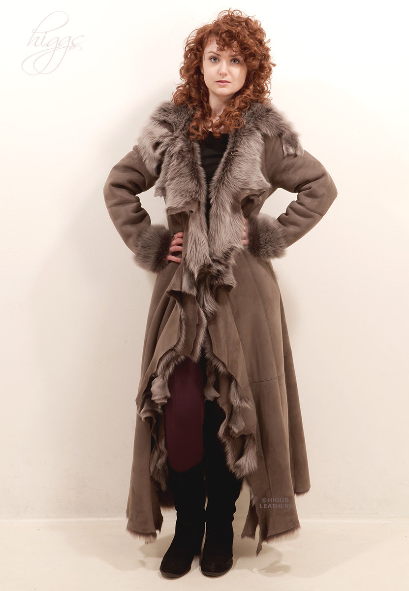 Higgs Leathers   Anitas (ladies hooded Designer Toscana Shearling coat) Casually sublime!